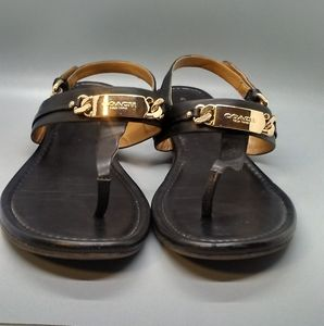 Black Coach Sandals Size 8